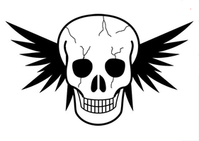 Wing Skull by elvenbladerogue