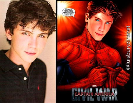 My name is Logan Lerman and I am Spider-man by luisbury-zine-net
