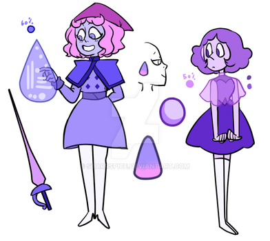 [SU OC] Lepidolite and lavender by StarrSpice