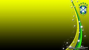 Brasil CBF Wallpaper Yellow by renatofraccari