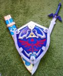 LoZ: Hylia Shield and Master Sword by KuraiOfAnagura
