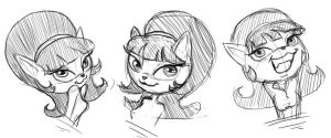 Kitty sketch practice by 14-bis