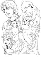 Past and Present Joestar by Beanerman-J