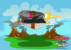 Super Jetpack Penguin Promotional 3 by GemmaSuen