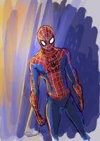 Your Friendly Neighborhood Spiderman by samanthadoodles