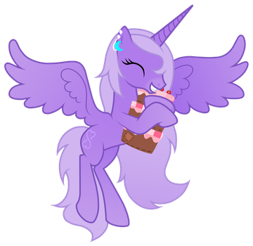 Lavender Heart with plushie by JennieOo