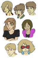 Some OCs by ViridianSoul