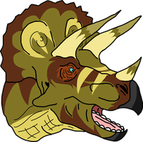 Triceratops Bust by AIpha-King