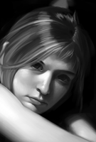 Grayscale Portrait by nailpipe