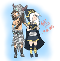 Ashe and Tryndamere by Nuskineta