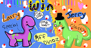 Larry and Jerry BFF Dinoz by MimiTheFox