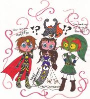 Link and Ganon Clothes Swap D: Hero and Villain by PhantomLatte