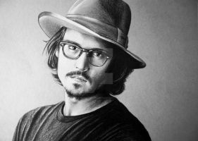 Johnny with hat by PassionDraw