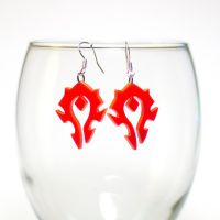 Warcraft WOW Horde earrings by Zamataj