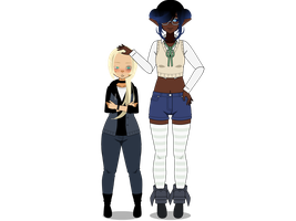 Jodie and Napfeny by inkedspace