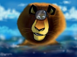 How to draw Alex from Madagascar 3 Part 3 by SketchHeroes