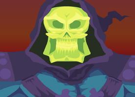 The Evil Skeletor by HoppyBadBunny