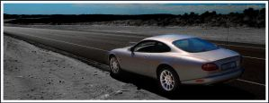 Jaguar XKR in Desert by tmz99