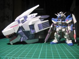 Liger Zero (head part) - SD RX93 Hi Nu Gundam by aeron21