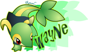 Coms: Wayne the Snivy by AlyssaC-12