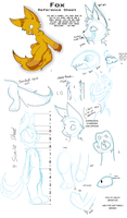 Fox - Reference Sheet by PokeartKid