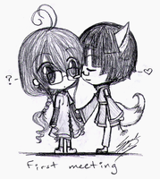 First Meeting - Kiriel + Niyoi by sc627