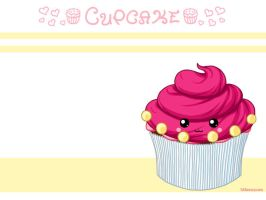Pink cupcake wallpaper by honeymil