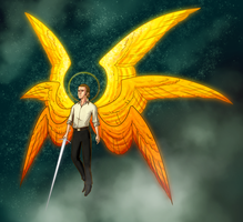 The Reluctant Archangel - Color by Zerinity