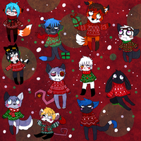 Buddies with ugly sweaters by Ocene