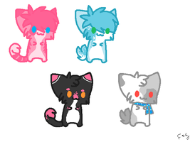 CHEAP KITTY POINT ADOPTABLES 4/4 OPEN!! by Kyarii-chan