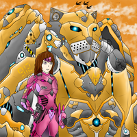 Terru and her Mecha: C.A.T -146 by VuTienDung