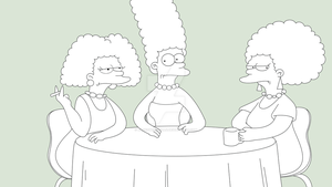 THE SIMPSONS - Bouvier Sisters by JackoWcastillo