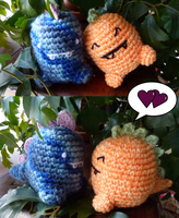 Dinosaur love by crocheter