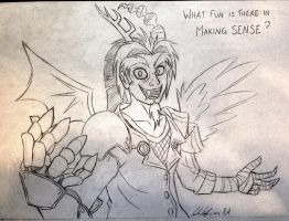 Humanized Discord (Sketch) by RedApropos