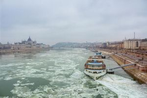 Cityscape of Budapest at the River Danube by rembo78