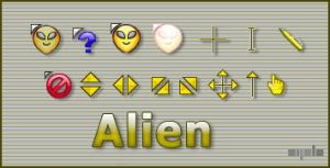 Alien cursor by apbaron
