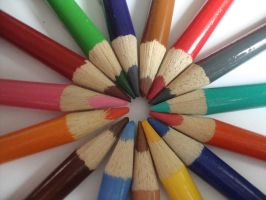 Pencil circle 1 by Laura-in-china