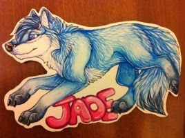 Jadebluefox badge by nightspiritwing