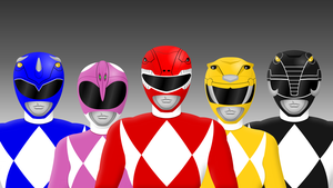 Classic Mighty Morphin Power Rangers by Yurtigo