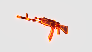 Low Poly Gun Collection - AK-47 Magma by Harry7liu