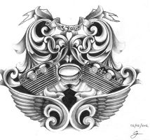 Harley-Davidson VRod Tattoo Design by Kings14