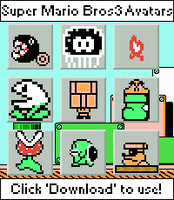 Super Mario Bros 3 Avatars by Retro-Specs