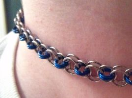 Blue and silver helms chain by ulfchild