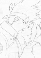 kakashi kiss girl by kameyo