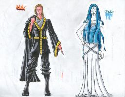 Sauron and Jadis concept art by jmsnooks