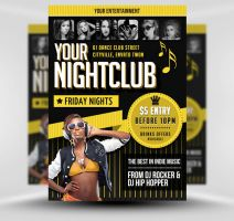Indie Club Flyer Poster Template by quickandeasy1