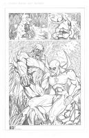 Swamp Thing meets Deadman 2of2 PENCILS by ZUCCO-ART