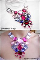 Pink and Purple Floating Gems by Natalie526