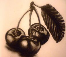 Charcoal Cherries by MollySpeaight