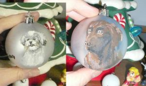 Dogs on a Xmas Bulb by RinnG